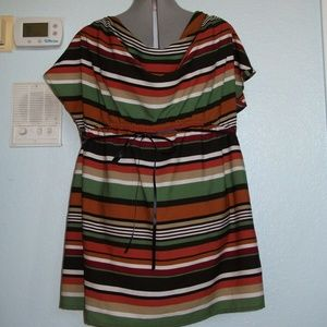Two Hearts Maternity Size XL Striped Blouse Shirt